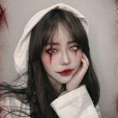 Edgy Makeup, Gothic Makeup, Cute Makeup, Makeup Art, Halloween Eye Makeup, Halloween Eyes, Clown Makeup, Makeup Eyes, Aesthetic Makeup