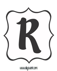 White and Black Letter_R