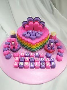 Love Jelly Cake Crazy Cakes, Tarta Queso Oreo, Agar Agar Jelly, Jelly Desserts, Mochi, Jello Cake, Kiwi, Mango, Recipies