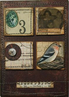 ATC vintage inchies TRADED | Flickr - Photo Sharing!