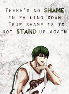 Kuroko no Basket quotes (Midorima Shintarou). I just realized that in the last episode he almost didn't