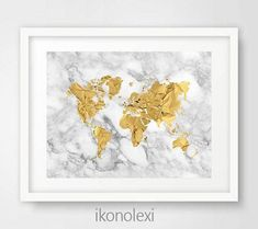 Rose gold map world map print rose gold office rose gold decor gold world map poster gold world map art gold world map print gold map world download world map gold gold marble housewarming gift gumiabroncs Choice Image