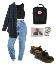 """Untitled #40"" by florax ❤ liked on Polyvore featuring Levi's, Monki, Dr. Martens and Fjällräven"
