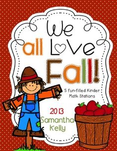 Fall math stations for your littles.  Counting, shapes, and graphing fun!