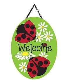 Another great find on Ladybug 'Welcome' Door Banner Wooden Door Hangers, Wooden Doors, New Crafts, Arts And Crafts, Welcome Door, Ladybug Party, Party Banners, Wood Cutouts, Activities For Kids