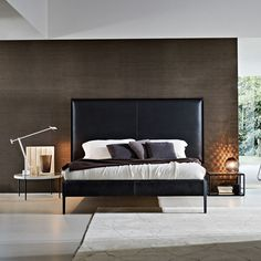 Double bed / contemporary / fabric / leather SWEETDREAMS by Ron Gilad Molteni & C