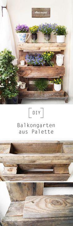 Balkongarten aus Palette Pinterest
