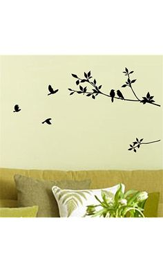 Birds Flying Black Tree Branches Wall Sticker Vinyl Art Decal Mural Home Decor Best Price