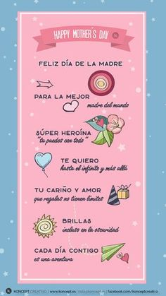 Spanish Mothers Day Poems, Mothers Day Quotes, Mom Quotes, Happy Mothers Day, Mother's Day Printables, Tumblr Love, Fathers Day Crafts, Mom Day, Lettering