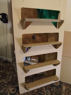 A Simple Storage Solution Using Cardboard As The Main Material It Is And
