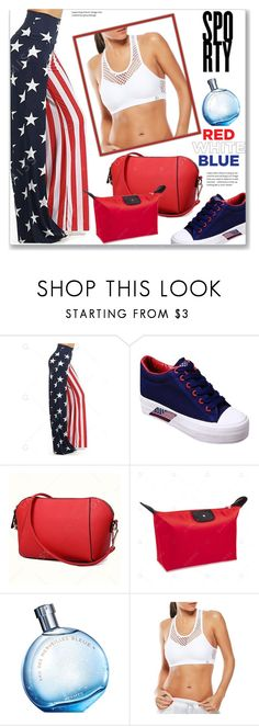 """""""Sporty :: Red, White and Blue"""" by jecakns ❤ liked on Polyvore featuring Hermès"""