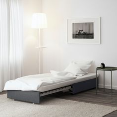 IKEA - VALLENTUNA, Sleeper module, Hillared dark gray, All modules in the VALLENTUNA series can be used freestanding or together to create a sofa combination in any size that suits you perfectly. Easily converts into a bed.
