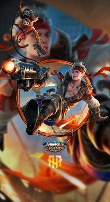 Wal lpaper Phone Claude Plunderous Pirate by FachriFHR Bruno Mobile Legends, Miya Mobile Legends, Wallpaper Hd Mobile, Hero Wallpaper, Screen Wallpaper, Alucard Mobile Legends, Golden Warriors, Hero Logo, Legend Games