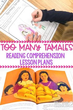 Too Many Tamales read aloud lesson plans for kindergarten, first, and second grade. Students respond to literature, develop vocabulary and grammar skills, and create a craft all within this 5-day lesson plan. #toomanytamales #readinglessonplans #engagingreaders