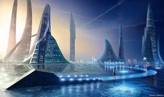 Aquatic Slidewalk by Samuel-Nordius.deviantart.com on @deviantART - Lost City on steroids
