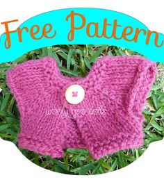 Try out this free doll sweater pattern, its the Bolero I make for my dolls.