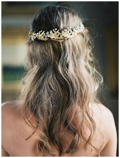Gold jeweled vine headpiece by Enchanted Atelier by Liv Hart from the SS16 collection. Hair by Nikki Avanzino, image by Laura Gordon.