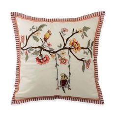Waverly® Retweet Square Throw Pillow - BedBathandBeyond.com