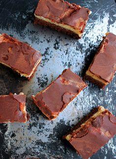 Chocolate cake with semolina cream and chocolate glaze