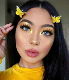 aesthetic makeup colorful Fresh Fruit Makeup You Need to Try When Taking Pictures makeup, colorful makeup , fruit, fruit makeup Makeup Eye Looks, Creative Makeup Looks, Skin Makeup, Eyeshadow Makeup, Cute Makeup Looks, Rave Eye Makeup, Face Makeup Art, Cute Eyeshadow Looks, Makeup Drawing