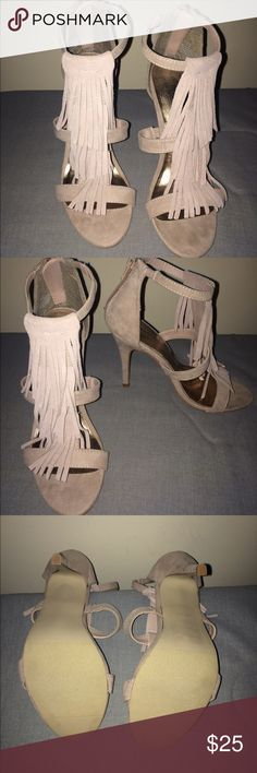 64dbc2681929 Madden girl Taupe Fringe Sandals Taupe fringe.NEVER BEEN WORN!!! Madden  Girl by Steve Madden! Steve Madden Shoes Sandals