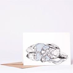BUNNY BABY-BOY Greeting Card
