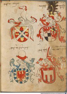 Tirol, Anton: Wappenbuch Süddeutschland, Ende 15. Jh. - 1540 Cod.icon. 310  Folio 52r