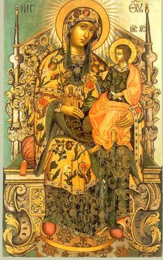 Immagine. Più Internet Encyclopedia of icone ortodosse. Religious Images, Religious Icons, Religious Art, Lady Madonna, Madonna And Child, Byzantine Icons, Byzantine Art, Queen Of Heaven, Russian Icons