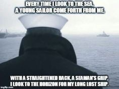Once a sailor, always a sailor. Marines don't have a lock on Esprit de Corps, ask any sailor. Military Quotes, Military Humor, Navy Military, Military Life, Military Veterans, Military Service, Military Art, Navy Day, Go Navy