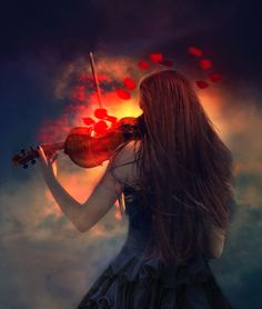 Deo Gratias by Phatpuppyart-Studios on DeviantArt Violin Photography, Musician Photography, Music Pictures, Cool Pictures, Violin Art, Christian Pictures, Prophetic Art, All About Music, Thing 1