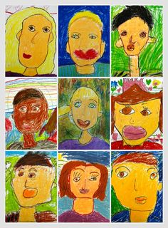 Art, Self-Portraits, Back to School, Second Grade, Second Grade Teaching Blog, Savvy in Second, 2nd grade art project