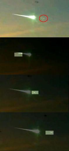 러시아 운석 UFO 격추 사진