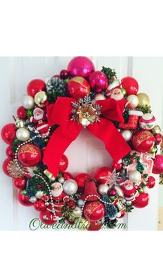 Sparkly vintage inspired wreath by oliveandtrixie.com