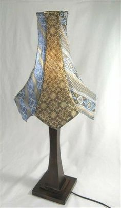 Neck Tie Lampshade. I have my dad's old ties for something like this.