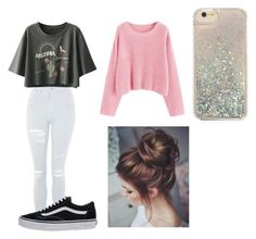 """Untitled #61"" by terule-smejule on Polyvore featuring Topshop, Vans and Forever 21"