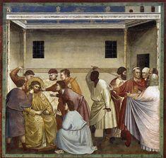 Giotto: No. 33 Scenes from the Life of Christ: 17. Mocking of Christ 1304-06 Fresco, 200 x 185 cm Cappella Scrovegni (Arena Chapel), Padua