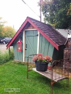 Whimsical shed by Smugglers Cove Vintage Furniture in Salmon Arm - part of Summer Adventure 7 / sights, miracles and lessons learned via Fun...