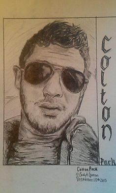 Colton Pack of Restless Road!! Sketched by me. Restless Road Fan Art. RRFanArt Emily Greeson