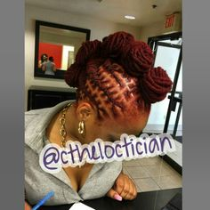 Loc bun, loc Mohawk, Locs, locs with color, ombre, wedding hair, loc styles, updos, loc updos, nice locs, beautiful locs, beautiful hair, braids, natural hair, loctician in Jacksonville Florida, best styles for everyday wear, hair art, loc art, not dread locs, Ciara the LOCTICIAN, CtheLOCtician.com, @CtheLOCtician