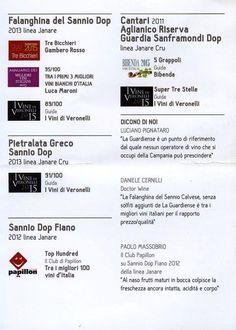Solo alcuni dei premi e riconoscimenti ai vini de La Guardiense!