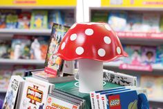 Add woodland whimsy with plastic bowl toadstool toppers. Toolkit keyword: TOADSTOOL