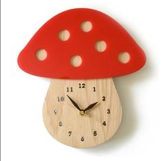 Laser cut mushroom clock
