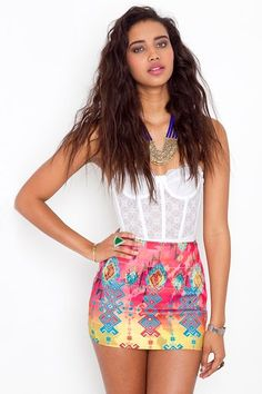 Tribal Bandage Skirt in  Clothes Bottoms Skirts at Nasty Gal