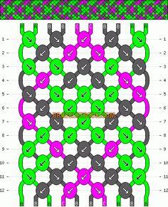 Patterns - Normal - Friendship Bracelet Pattern #1708