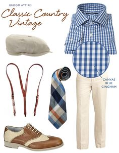 Groom Attire: Classic Country Vintage