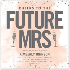 Cheers to the future Mrs! Shower the bride-to-be with a bridal shower with plenty of pop and laughs with the best gal pals.