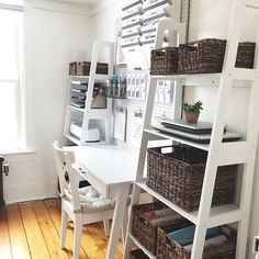 Simple Home Office Organization - white house black shutters Home Office Storage, Home Office Organization, Organized Office, Study Room Decor, Black Shutters, Fashion Room, Simple House, New Room, Home Interior Design