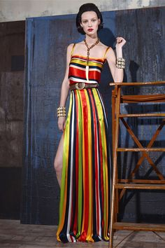 Vertical stripes for a walking tall effect. http://violetstreet.com/  DSquared2 pre-spring/summer 2015