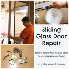 Ever get frustrated with a sliding glass door that won't move? You need this basic primer on sliding glass door repair. It's better than sliced bread.