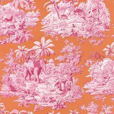 Bengale Paprika wallpaper by Manuel Canovas